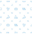school icons pattern seamless white background vector image vector image