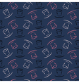 Seamless pattern with cylinder hat vector image