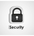 security icon with scissors and cutting line vector image