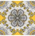 simple geometric mandala logotype company mark vector image vector image