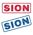 Sion Rubber Stamps vector image vector image