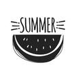 summer fun sticker watermelon badge hand drawn vector image