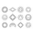 sunburst labels retro sun rays logos vintage vector image vector image