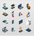 technology and communication icon set vector image vector image