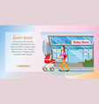 the concept purchases children goods in baby store vector image