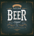 vintage beer label for bottle vector image vector image