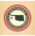 vintage label-sticker cards of oklahoma vector image vector image