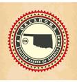 vintage label-sticker cards oklahoma vector image vector image