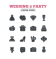 Wedding and party icon Dress diamond ring vector image vector image