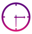 purple wall clock icon vector image
