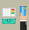 Money deposit and withdrawal vector image