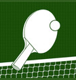 flat ping pong background vector image