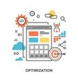 web optimization concept vector image