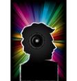 Disco music party invitation vector image