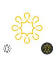 Sun linear logo Power energy concept symbol vector image