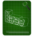 3d model of speaker system on a green vector image