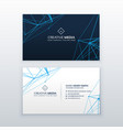 abstract lines business card blue template