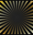 abstract retro shiny starburst black background vector image vector image