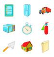 accomplishment icons set cartoon style vector image vector image