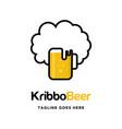 afro beer logo vector image