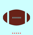 american football ball set it is color icon vector image vector image