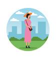 avatar woman cartoons vector image vector image