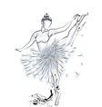 Ballet dancer and dandelion vector image vector image