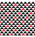 black and red hawaiian tribal seamless pattern vector image
