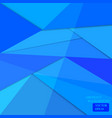 blue polygon background web design vector image vector image