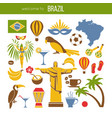 brazil sightseeing landmarks and famous vector image vector image