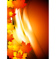 Bright autumn design vector image