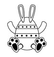 bunny or rabbit with decorated egg easter related vector image vector image