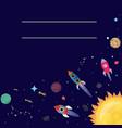 cartoon sci-fi space background vector image vector image