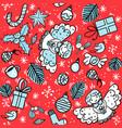 christmas pattern presents omela angels vector image vector image