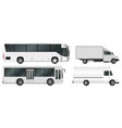 city bus and truck template passenger transport vector image vector image