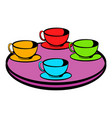 coffee-cup carousel icon icon cartoon vector image