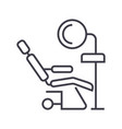 dental clinicdentist s chair line icon vector image vector image