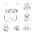 design of emblem and badge icon set of vector image vector image