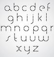 Digital alphabet modern style font vector image