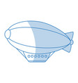 dirigible icon design vector image vector image