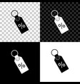 discount percent tag icon isolated on black white vector image vector image