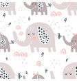 elephants family pattern vector image vector image