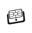 esim to nano sim card adapter icon phone sim-card vector image