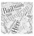 european trains Word Cloud Concept vector image vector image