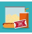 Food and ticket design vector image