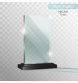 glass plate glass trophy award vector image vector image