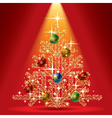 Gold Christmas tree vector image vector image