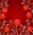 golden red roses vector image vector image
