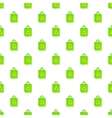 Green paper shopping bag pattern cartoon style vector image vector image