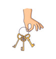 hand is holding the keys vector image